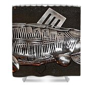 The Cutlery Fish Shower Curtain