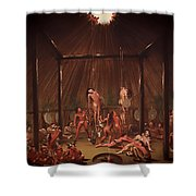 The Cutting Scene Mandan O-kee-pa Shower Curtain