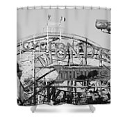 The Cyclone In Black And White Shower Curtain