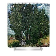 The Cypresses Shower Curtain
