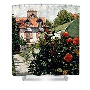 The Dahlias Garden At Petit Gennevilliers Shower Curtain