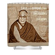 The Dalai Lama Shower Curtain