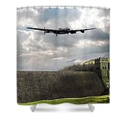 The Dambusters Over The Derwent Shower Curtain