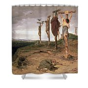 The Damned Field Execution Place In The Roman Empire Shower Curtain