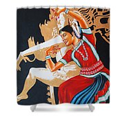 The Dance Divine Of Odissi Shower Curtain