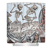 The Dance Of Death Shower Curtain