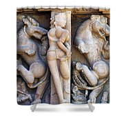 The Dancer In Stone 2 Shower Curtain by C H Apperson