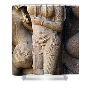 The Dancer In Stone Cropped Shower Curtain