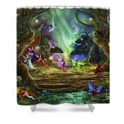The Dancing Auroras Shower Curtain