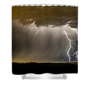 The Dancing Couple - Lightning 10 Shower Curtain