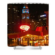 The Daniels And  Fisher Tower At Night Shower Curtain