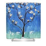 The Darling Buds Of February Shower Curtain