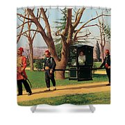 The Daughter Of The English Ambassador Riding In A Palanquin Shower Curtain