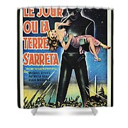 The Day The Earth Stood Still Vintage Poster Shower Curtain