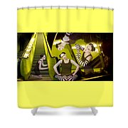 The De-escalating Dream - Self Portrait Shower Curtain