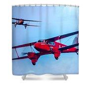 The De Havilland Dh90 Dragonfly Shower Curtain