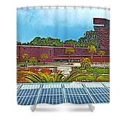 The De Young Fine Arts Museum From Roof Of California Academy Of Sciences In Golden Gate Park-ca Shower Curtain
