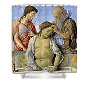 The Dead Christ Supported By Saints Shower Curtain
