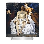 The Dead Christ With Angels Shower Curtain