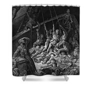 The Dead Sailors Rise Up And Start To Work The Ropes Of The Ship So That It Begins To Move Shower Curtain