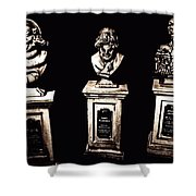 The Dearly Departed Shower Curtain by Jenny Hudson