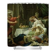 The Death Of Cleopatra, 1755 Oil On Canvas Shower Curtain