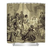 The Death Of Evangeline, Plate 6 Shower Curtain