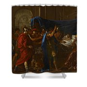 The Death Of Germanicus Shower Curtain by Nicolas Poussin