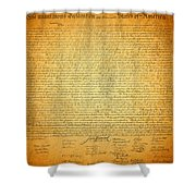 The Declaration Of Independence - America's Founding Document Shower Curtain by Design Turnpike