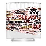 The Declaration Of Independence Shower Curtain by Florian Rodarte