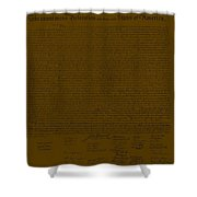 The Declaration Of Independence In Brown Shower Curtain