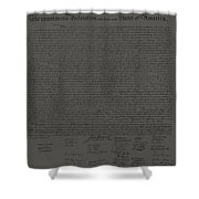 The Declaration Of Independence In Charcoal Shower Curtain