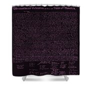 The Declaration Of Independence In Negative Pink Shower Curtain