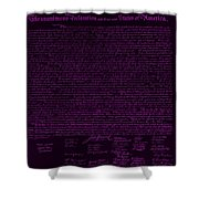 The Declaration Of Independence In Negative Purple Shower Curtain