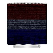 The Declaration Of Independence In Negative R W B 1 Shower Curtain
