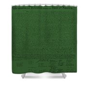 The Declaration Of Independence In Olive Shower Curtain