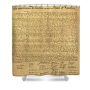 The Declaration Of Independence In Sepia Shower Curtain