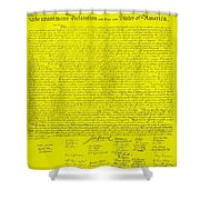 The Declaration Of Independence In Yellow Shower Curtain