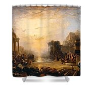 The Decline Of The Carthaginian Empire Shower Curtain