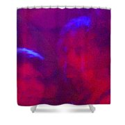 The Deep Purple Three Shower Curtain