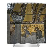 The Deesis Mosaic At Hagia Sophia Shower Curtain