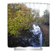 The Delaware Canal In Morrisville Pa Shower Curtain