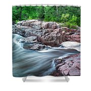 The Dells Of The Eau Claire River  Shower Curtain