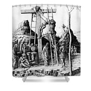 The Descent From The Cross Shower Curtain by Andrea Mantegna