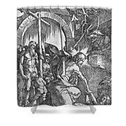The Descent Of Christ Into Limbo Shower Curtain by Albrecht Duerer