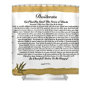 The Desiderata Poem Surrounded By Tropical Bamboo Shower Curtain