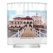 The Detroit Boat Club - Belle Isle - 1910 Shower Curtain