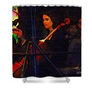 The Devil's Orchestra Shower Curtain