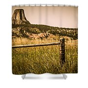 The Devils Tower Shower Curtain