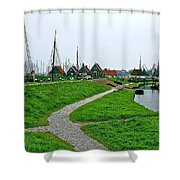 The Dike In Enkhuizen-netherlands Shower Curtain